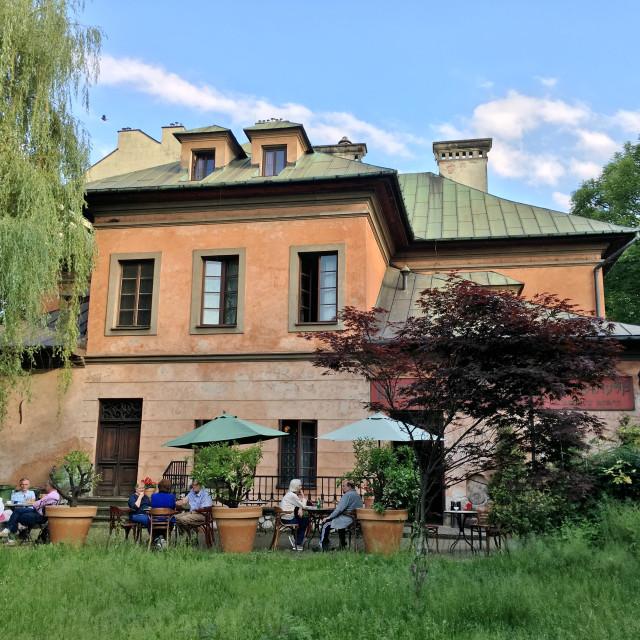 """""""Klezmer Hois restaurant & hotel, Kraków"""" stock image"""