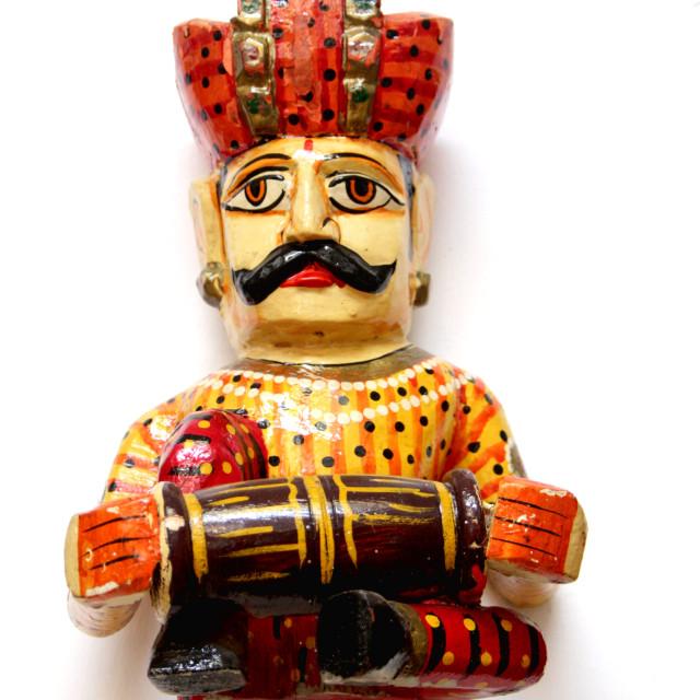 """Idol of Rajasthani Musician"" stock image"