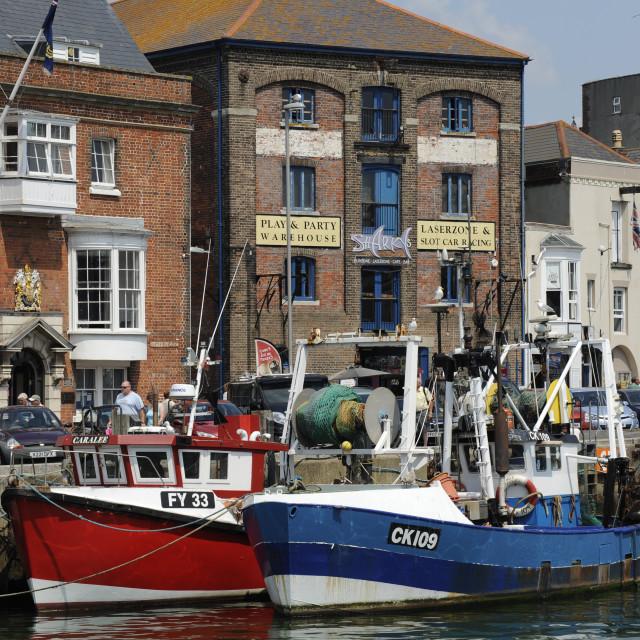 """Custom House Quay, Weymouth, Dorset"" stock image"
