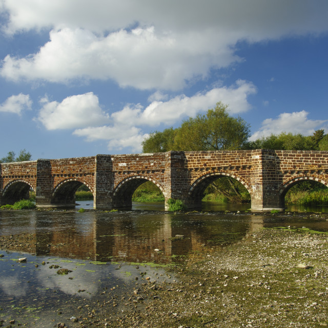 """White Mill Bridge, Dorset"" stock image"