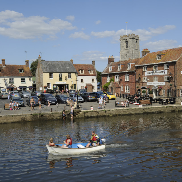 """Wareham Quay, Dorset"" stock image"