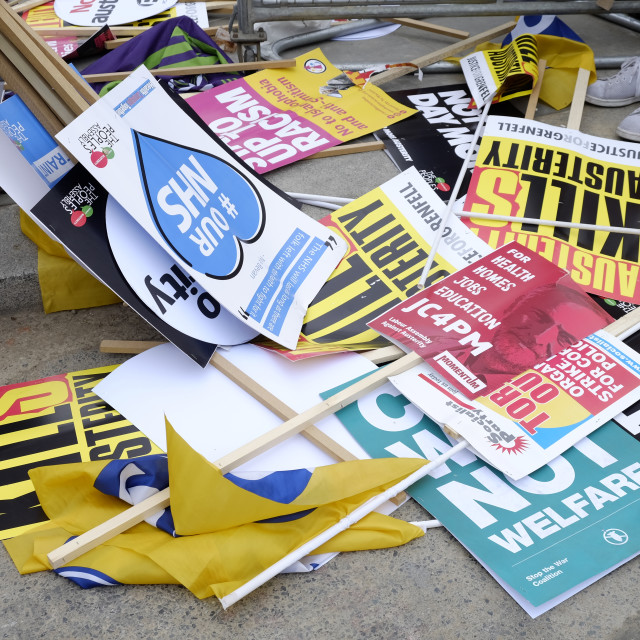 """""""Not One Day More Placards"""" stock image"""
