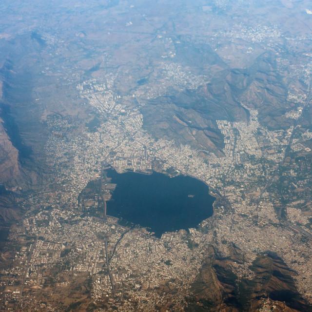"""India Aerial Photo Ajmer India"" stock image"