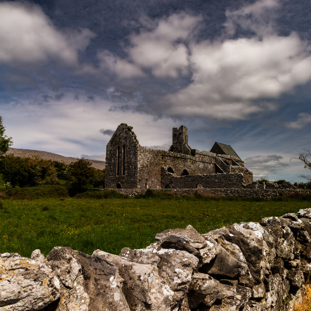 """Corcomroe Abbey"" stock image"