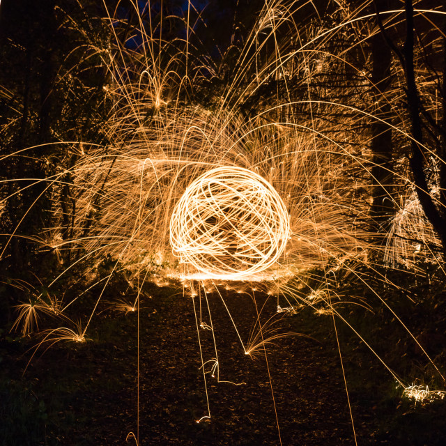 """Orb of Fire"" stock image"