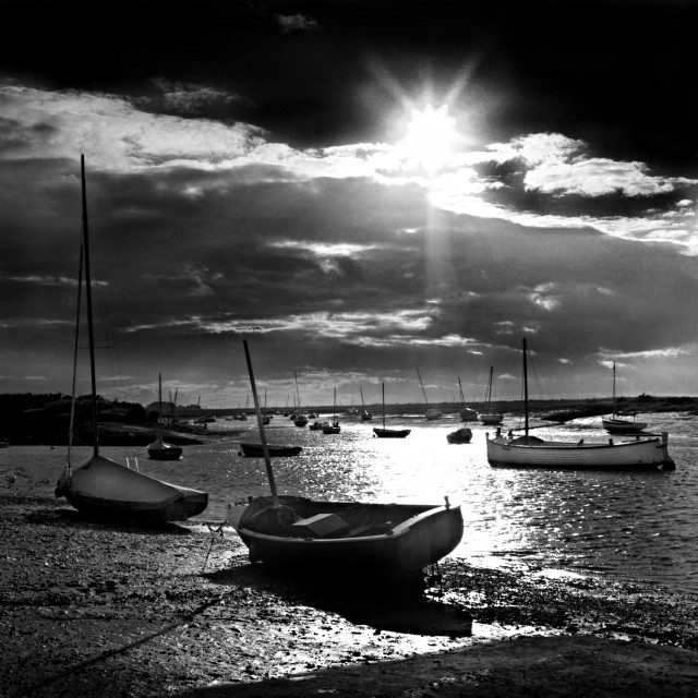 """Burnham Overy Staithe Harbour, Norfolk"" stock image"