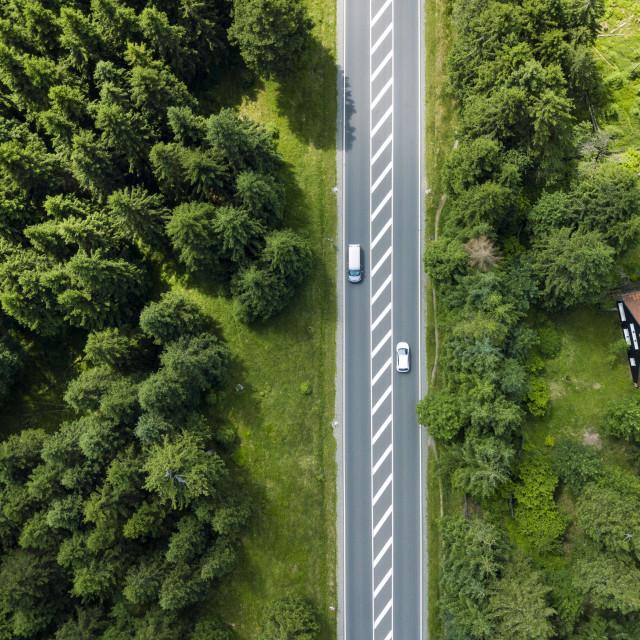"""Street Crossing the Harz"" stock image"