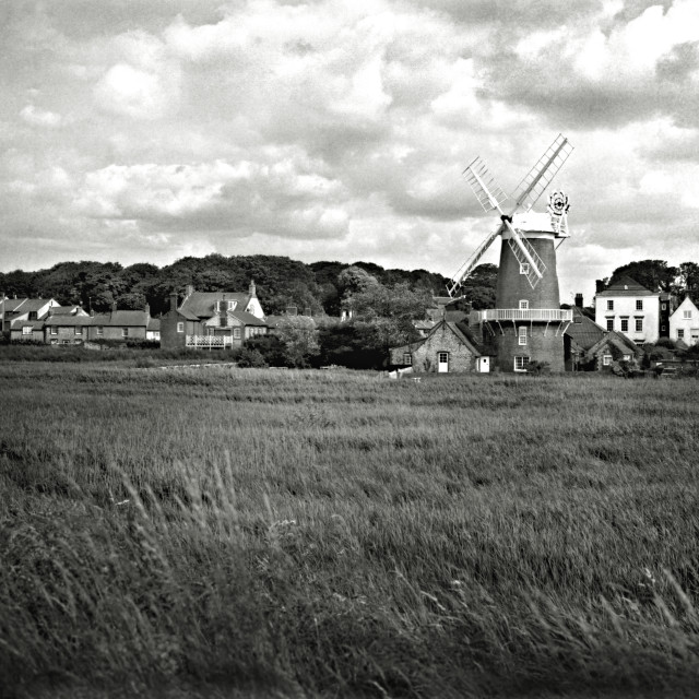 """Cley Windmill, Cley-next-the-Sea, Norfolk"" stock image"