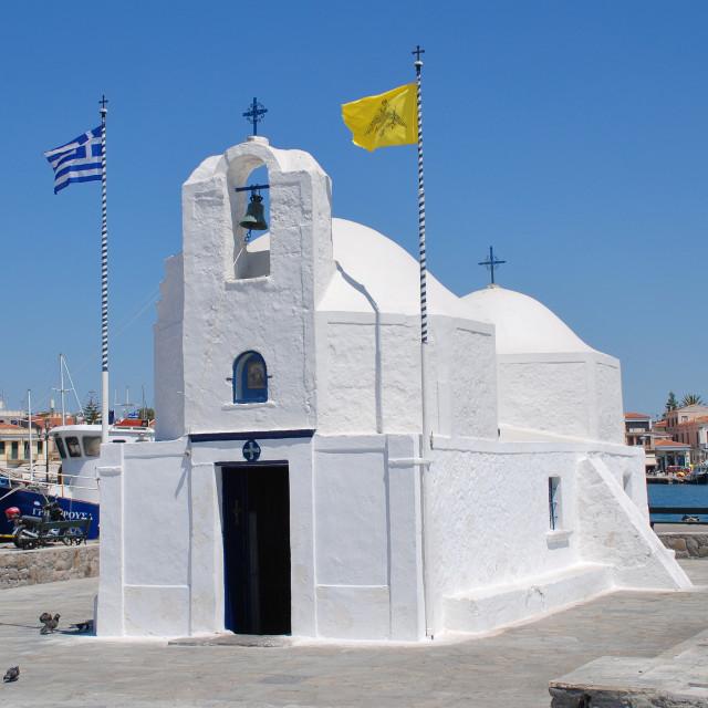 """Agios Nikolaos church, Aegina"" stock image"