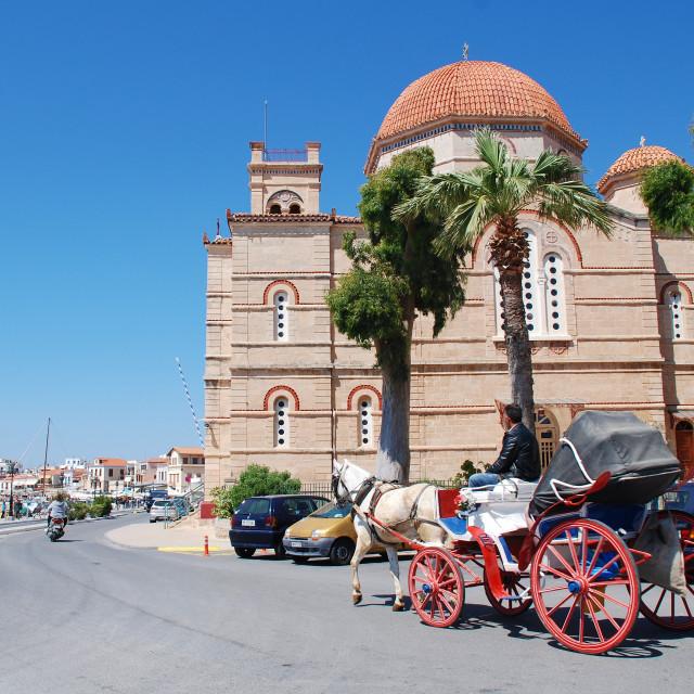 """Panagitsa church, Aegina"" stock image"