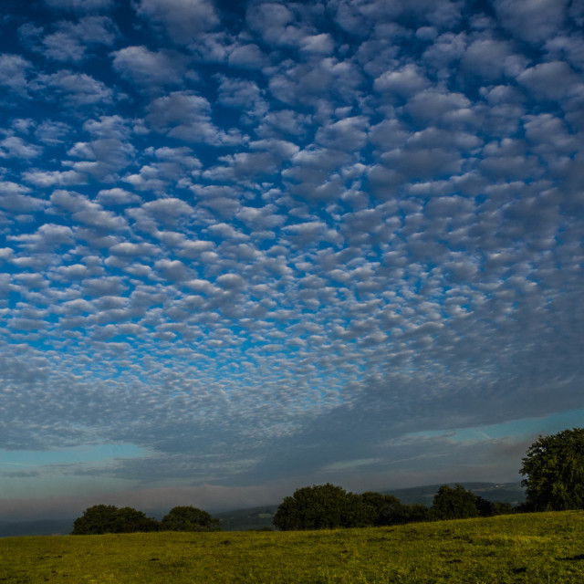 """""""Clouds over Gelligaer Common, Caerphilly, South Wales"""" stock image"""