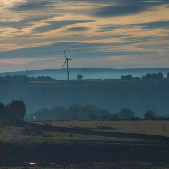 """Windmill, Gelligaer Common"" stock image"