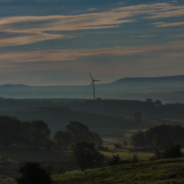 """Windmill, Gelligaer Common"" stock image"