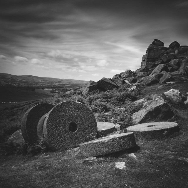 """Mill Stones"" stock image"
