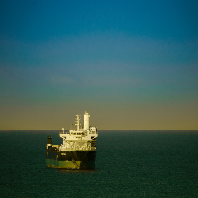 """""""Ship arriving at Nassau Port"""" stock image"""