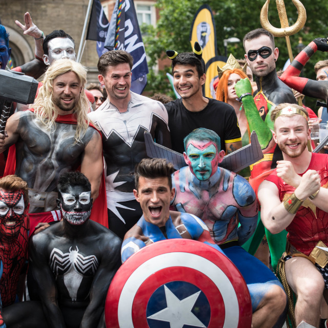 """Pride in London parade 2017"" stock image"