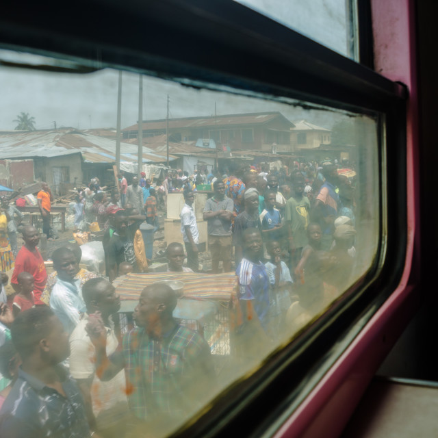 """Yoruba lady on a train ride"" stock image"