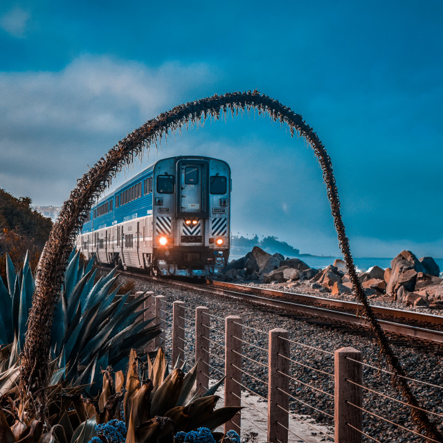 """Pacific Surfliner"" stock image"