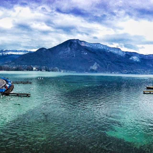"""""""Annecy Lake"""" stock image"""