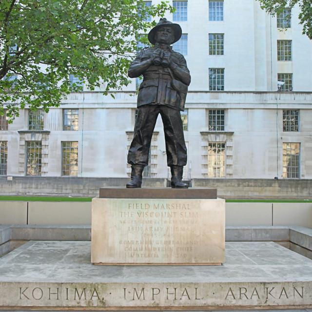 """Field Marshall Lord Slim of Burma"" stock image"