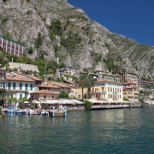 """Limone - Lake Garda - Italy"" stock image"