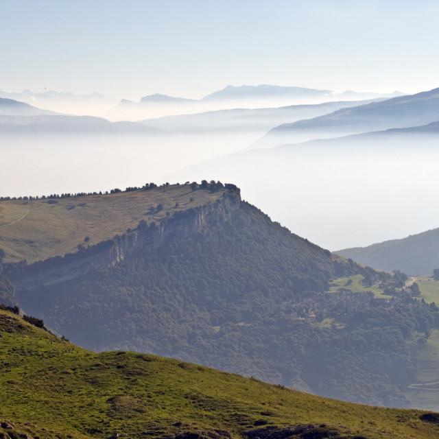 """Italian Dolomites from Monte Baldo - Lake Garda - Italy"" stock image"