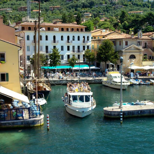 """Malcesine - Lake Garda - Italy"" stock image"