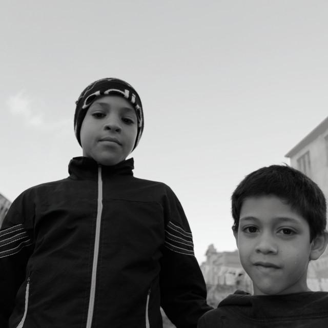 """""""Enfants, Casablanca, Maroc 2"""" stock image"""