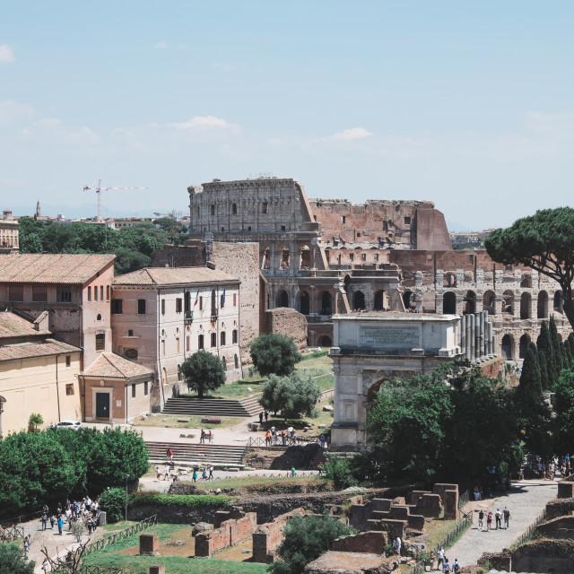 """Roman Forum & Colosseum"" stock image"