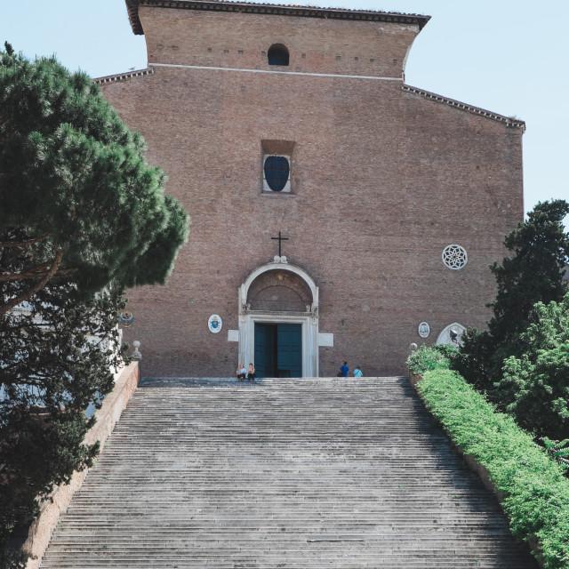 """""""Basilica di Santa Maria in Ara coeli"""" stock image"""