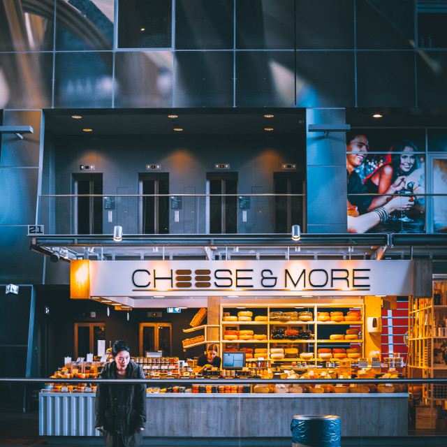 """Cheese Shop"" stock image"
