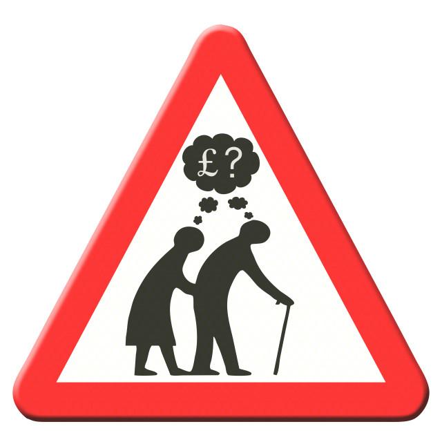 """Pension worries."" stock image"