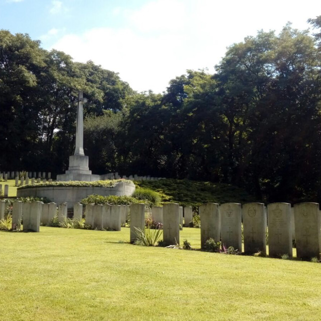 """""""The British Military Cemetery in Poznan"""" stock image"""