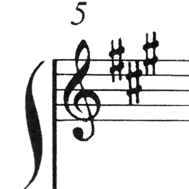 """A music score sheet with the focus on the G-clef"" stock image"