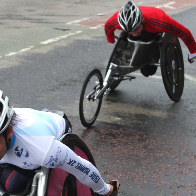 """wheelchair race"" stock image"