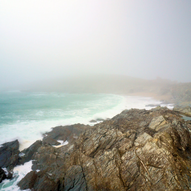 """Misty Little Fistral"" stock image"