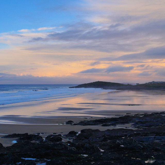 """Fistral at Dusk"" stock image"