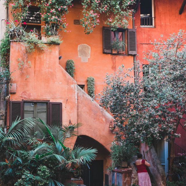 """Courtyard in Rome"" stock image"