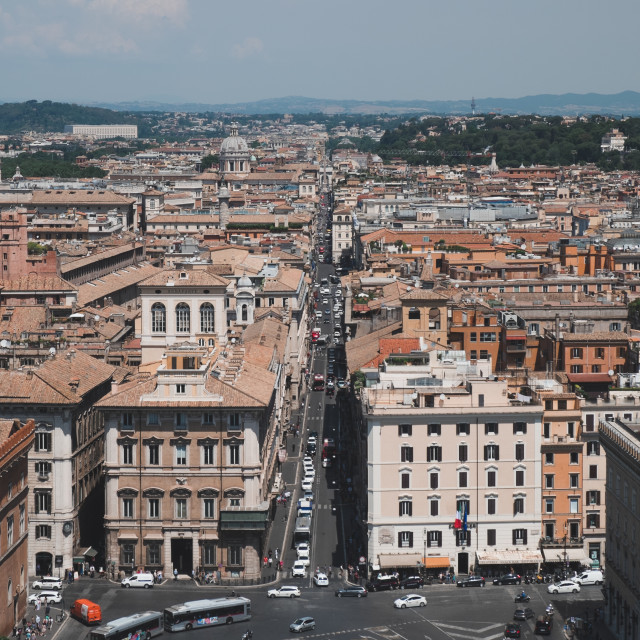 """View ove Rome"" stock image"