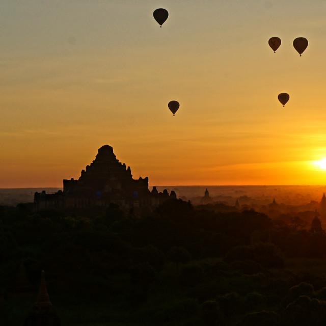 """""""Spirit of Bagan"""" stock image"""