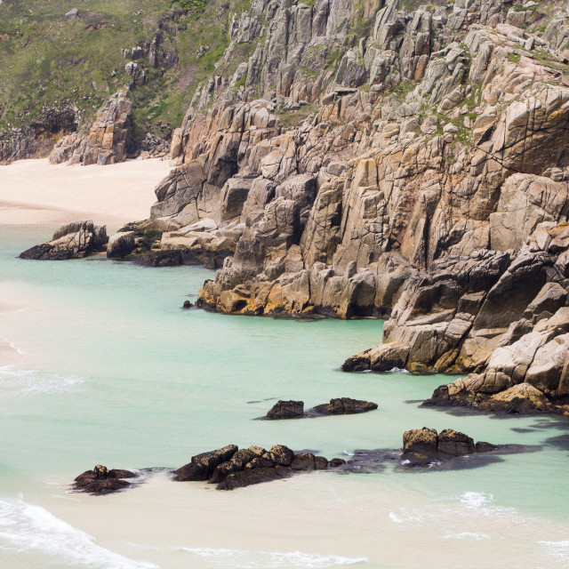 """Porthcurno in Cornwall."" stock image"