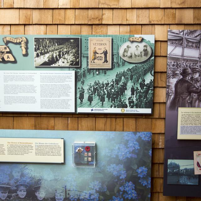 """The visitor centre at Newfoundland Memorial Park, Beaumont Hamel,..."" stock image"
