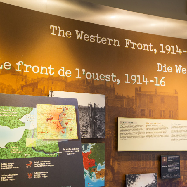 """The visitor centre at Newfoundland Memorial Park, Beaumont Hamel,..."" stock image"