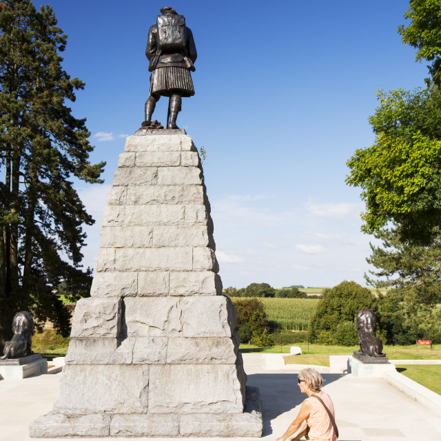 """The Newfoundland Memorial Park, Beaumont Hamel, commemorating Canadian losses..."" stock image"