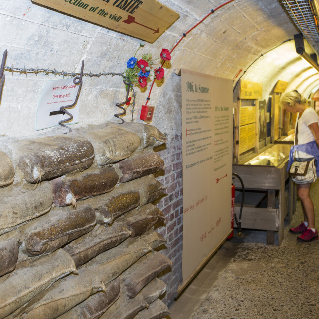 """""""The underground Battle of the Somme museum in Albert, which is in the ancient..."""" stock image"""