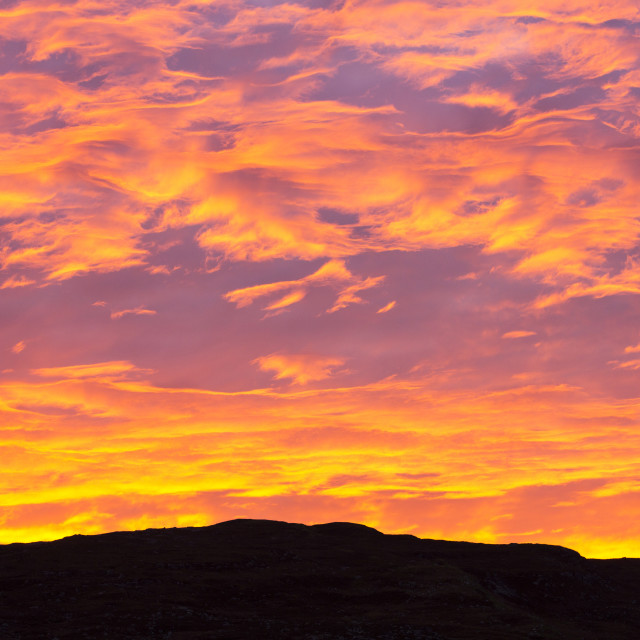 """sunrise over Applecross, Scotland, UK."" stock image"