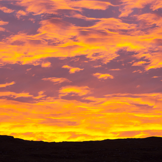 """sunrise over Applecross, Scotland, UK."" stock image"