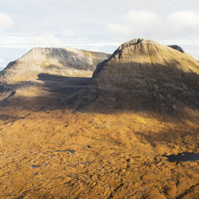 """Looking towards Beiin Eighe from Beinn Dearg in Torridon, Scotland, UK."" stock image"