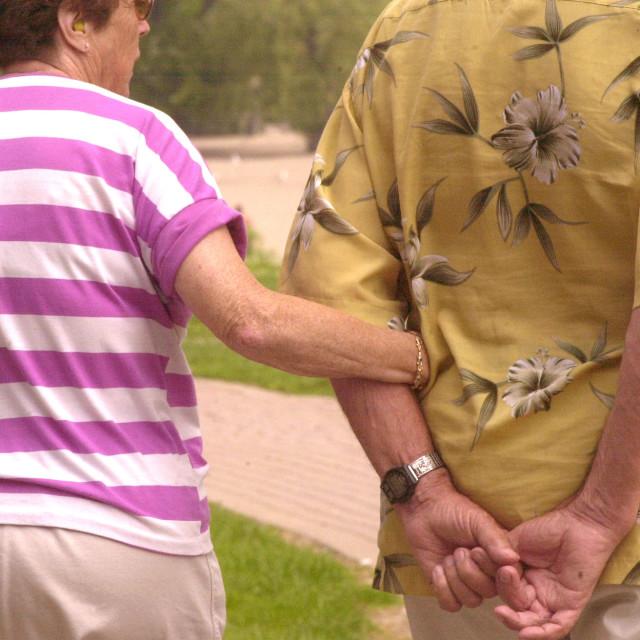 """""""Walking seniors"""" stock image"""