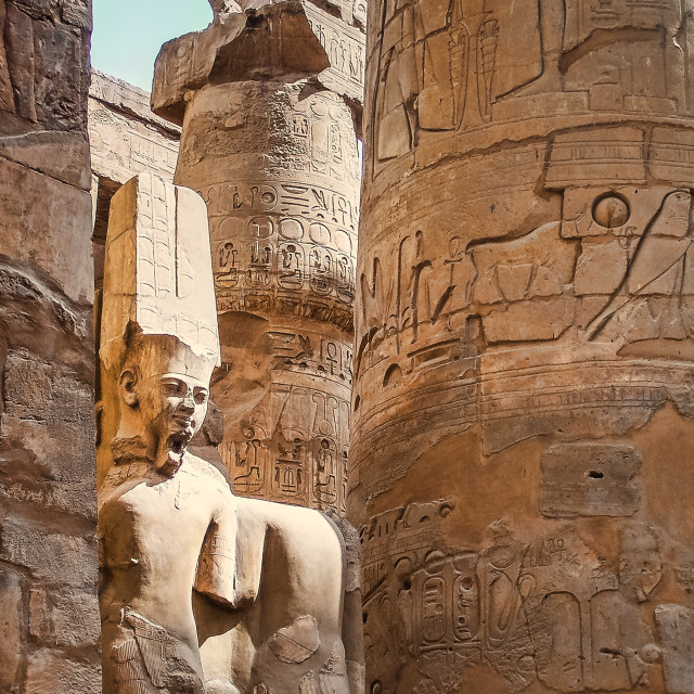 """Karnak Temple"" stock image"